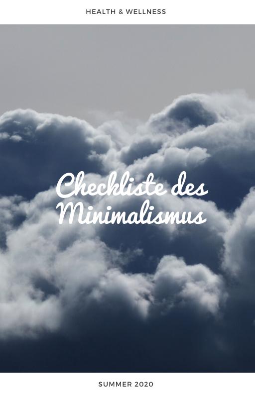 Checkliste Minimalismus - plr eBook